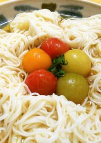 素麺とトマト◎冷やしおでん仕立て