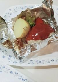 簡単ハンバーグ★包み焼き★チーズイン