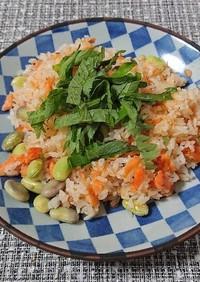 簡単!鮭と枝豆のチャーハン
