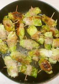 キャベツの豚肉巻き焼き♪簡単料理
