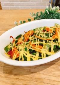 簡単副菜*かぼちゃのダシマヨ焼き