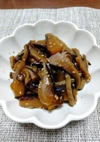 干し椎茸の佃煮(原木スライスを使って)