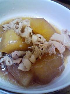 簡単激ウマ☆豚肉と冬瓜のハチミツ煮