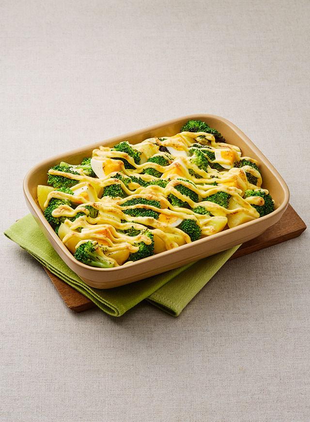 ブロッコリーとゆで卵のマヨネーズ焼き