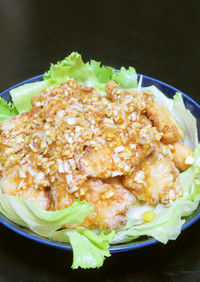油淋鶏ユーリンチー☆鶏唐揚げの香味ソース