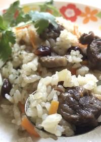 電鍋レシピ:ウズベキスタン料理[プロフ]