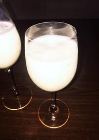 アガベシロップでバナナジュース