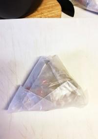クッキングシートでの中華粽の包み方