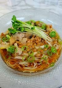 鯖缶納豆冷やし素麺