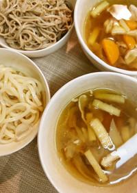 けんちん汁風つけ麺(うどん・蕎麦)