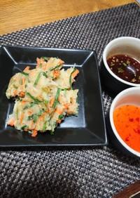 簡単節約!もっちりニラ豆腐チヂミたれ2種