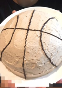 バスケットボールケーキ