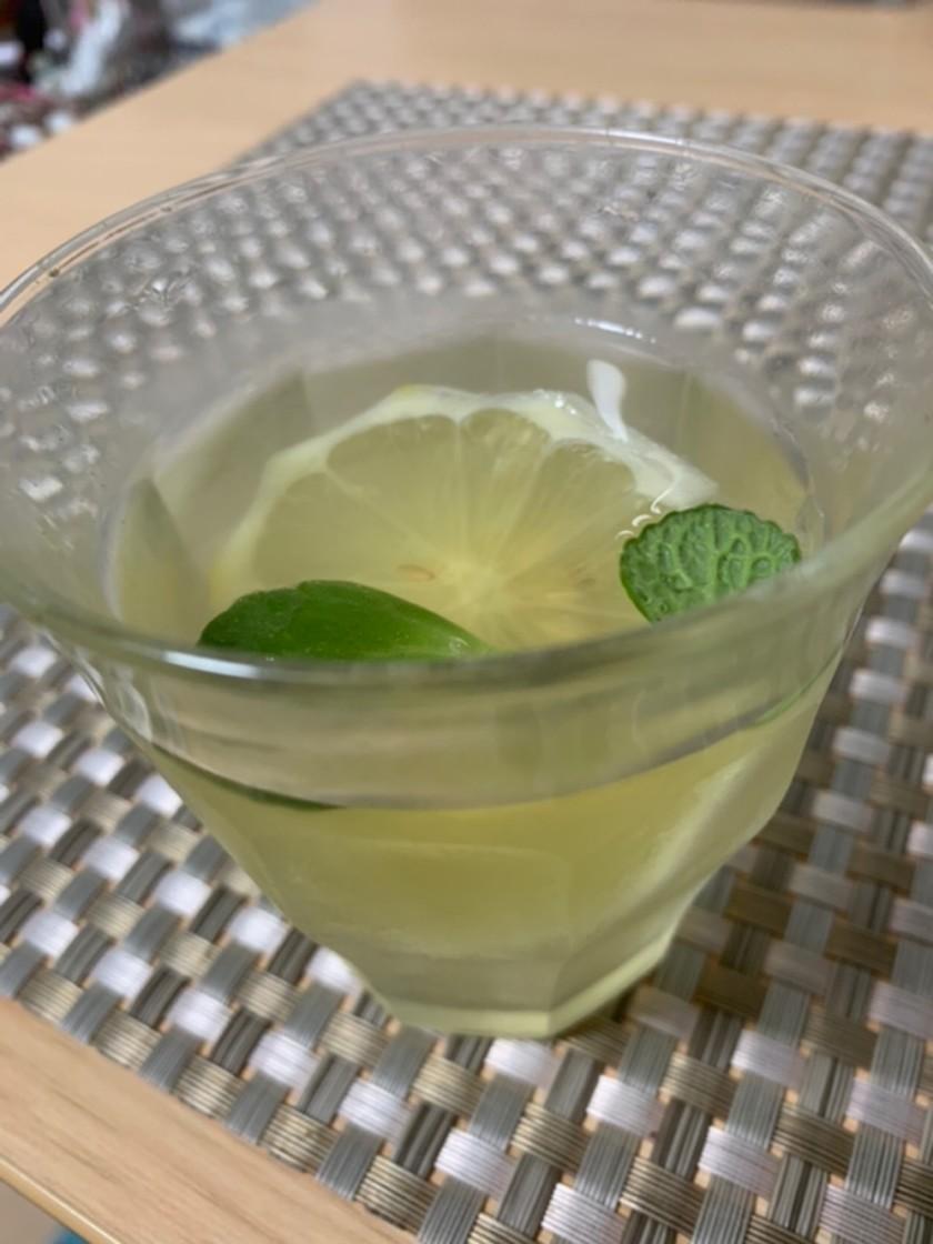 緑茶のミント・レモンフレーバー