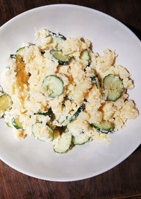 胡瓜&じゃが芋の明太ポテサラ