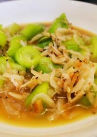 中華の定番《へちまと小えびの炒め煮》
