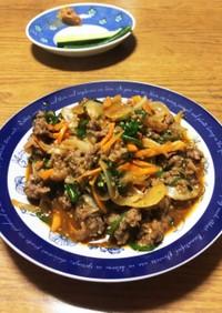 ジップロックでプルコギ風野菜炒め