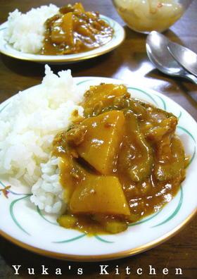 豚肉とゴーヤとパイナップルの沖縄風カレー