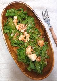 5分で簡単山芋グリーンリーフの甘辛サラダ