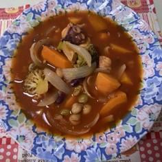 スープが美味しい☆タコと野菜の満点スープ
