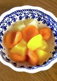 栄養満天!お野菜白玉で簡単フルーツポンチ