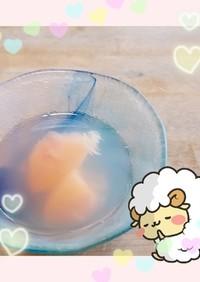 マクロビ☆桃のコンポート&寒天ゼリー