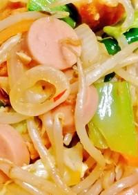 簡単♪魚肉ソーセージで厚揚げ野菜炒め