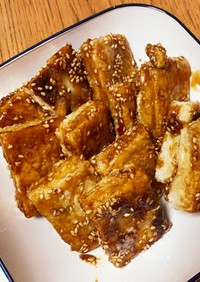 メインのおかずに꙳★冷凍豆腐の甘辛唐揚げ