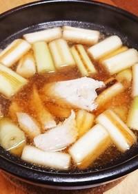 簡単酒肴☆シンプルなネギマ鍋