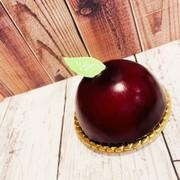 ブルーベリーのレアチーズドームケーキの写真