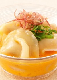 冷凍餃子で簡単!絶品冷やし卵かけ餃子☆