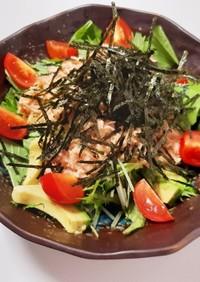 簡単で美味しい♡シーチキンと水菜のサラダ