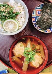 【椎茸粉使用♪】鶏つみれの味噌汁