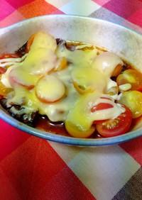 いわし缶とトマトのチーズ焼き
