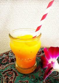 簡単美味しい‼マンゴーオレンジスムージー