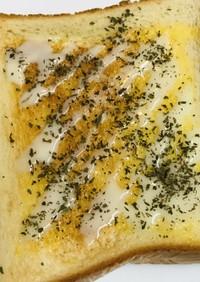 練乳&ミントパウダーの甘口バタートースト