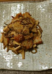 ヨウサマの減塩ゼンマイとメンマの炒め物