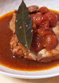 炊飯器で超簡単!!鶏モモ肉のトマト煮