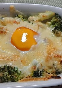 里芋と味噌マヨのお月見グラタン