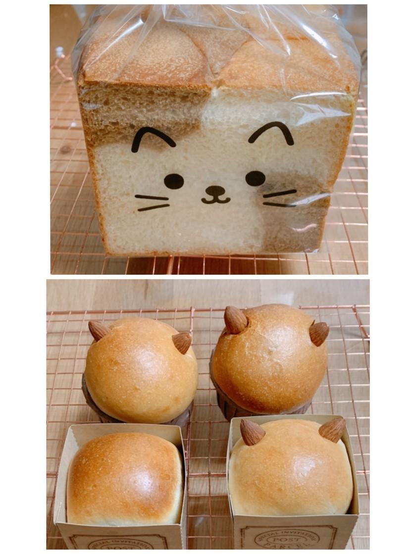 箱入りねこパンと三毛猫角食パンレシピ