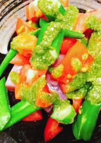 まぐろと夏野菜のジェノベーゼ