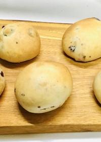 天然酵母元種♡クランベリー&クリチ丸パン