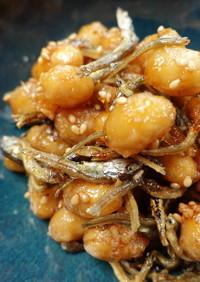かえり煮干と大豆の揚げ煮