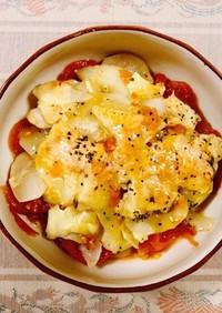 簡単!菊芋トマトチーズ焼き