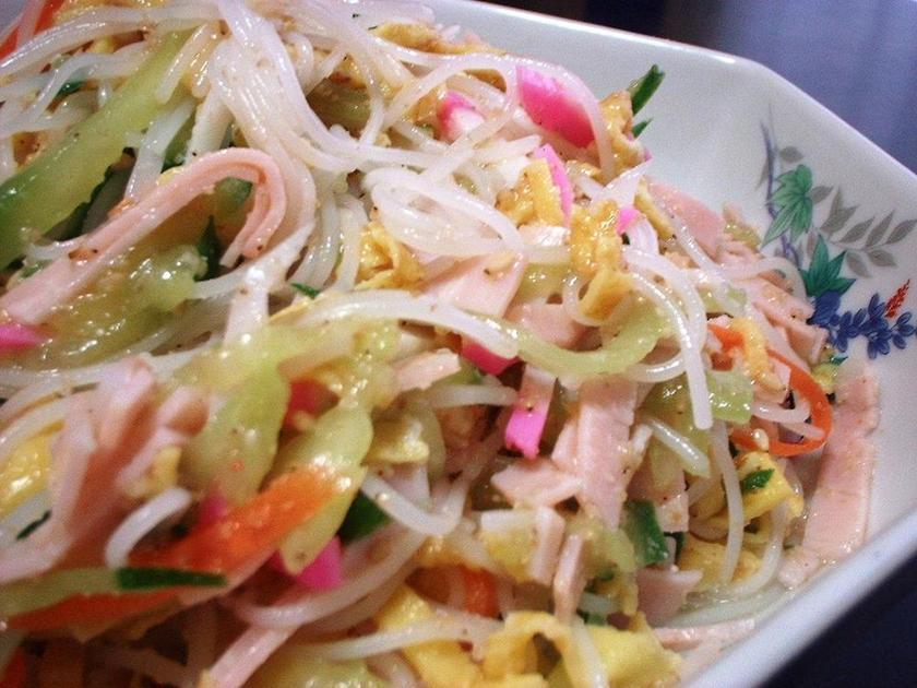 ビーフンの中華サラダ