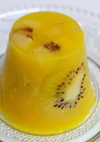 オレンジ&キウイ&バナナ寒天