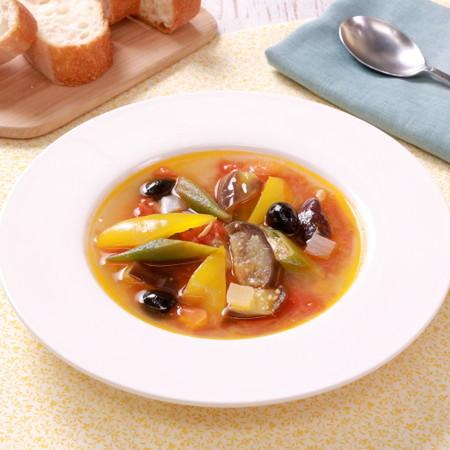 フレッシュトマトで!ラタトゥイユスープ