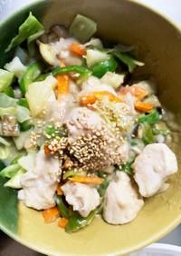 レンジ味噌ミルクスープで和風タッカルビ風