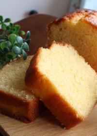 黄金色に輝く♡プレーンパウンドケーキ
