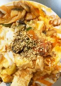 レンジ温野菜トリプルトマト甘酢チャンプル