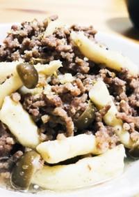 【美味】シメジと合い挽き肉の塩炒め